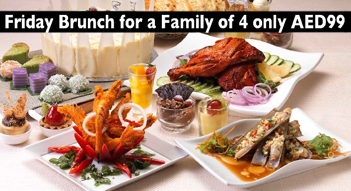 Friday Brunch for a Family (2 Adults + 2 Kids) for only AED99 - Dunes Delights
