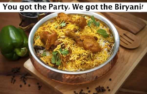 Party Biryani - Charcoal Sigdi Authentic Awadhi Biryanis (Chicken & Mutton)