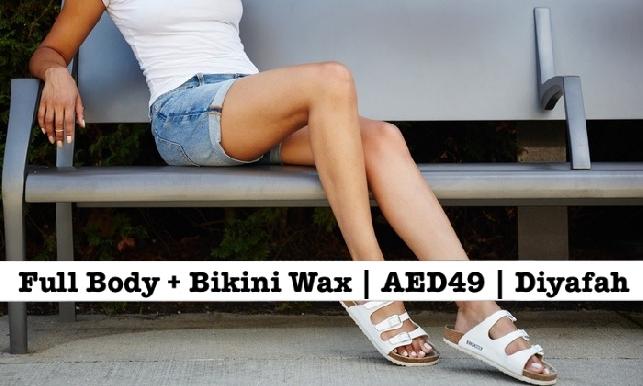 Bodyline Full Body Waxing + Full Bikini Waxing for only AED49