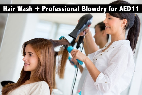 Hair Wash & Professional Straight Blowdry for only AED11 - Mira Salon