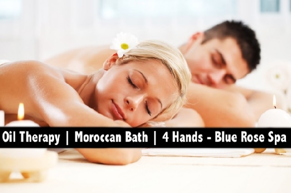 4 Hands, Moroccan Bath & Oil Relaxation Therapy - Blue Rose Spa from AED59