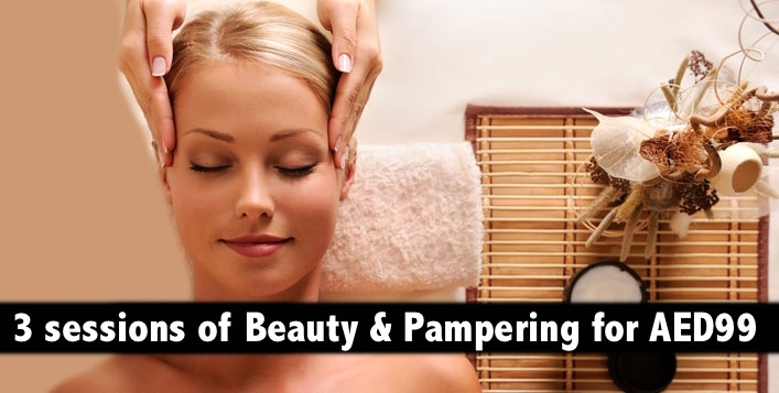 3 Sessions of Premium Beauty & Pampering Services for AED99