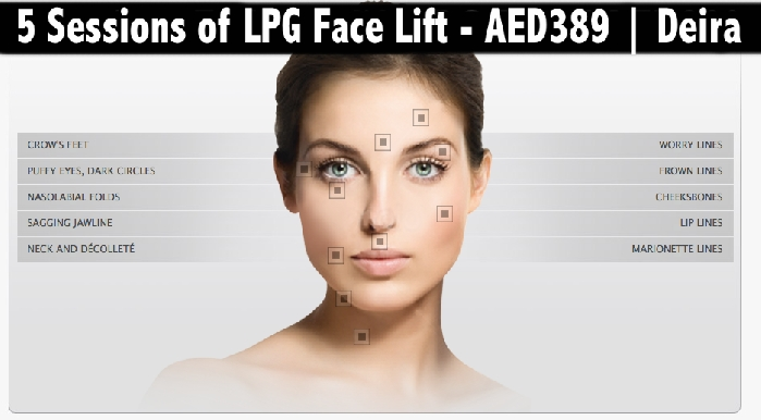 Face Lift, Anti Aging & Face Shaping -  5sessions Endermolift LPG AED389
