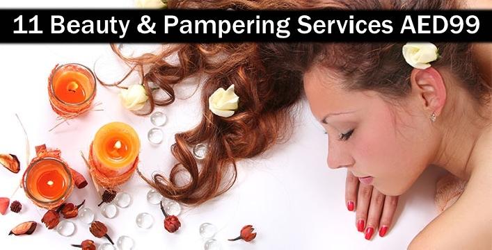 11 Beauty Services: Moroccan Bath, Fruit Scrub, Foot Spa, Oil Therapy, Mani-Pedi