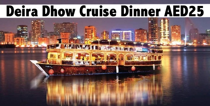 Deira Creek Dhow Cruise Sunset Cruise (AED25) or Evening Cruise (AED29)