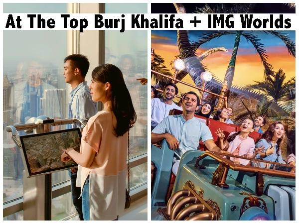 Combo: At the Top Burj Khalifa (124/125 Floor) + IMG Worlds of Adventures