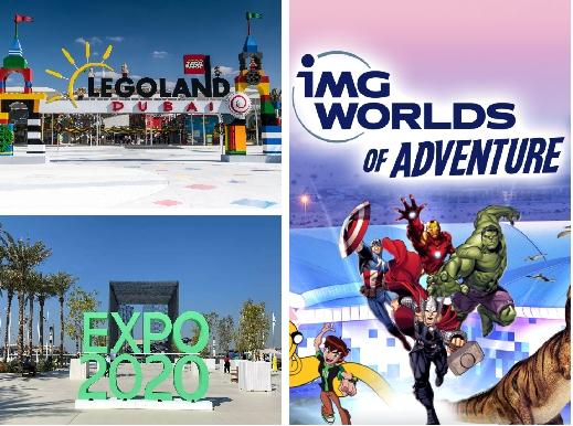 Motiongate | Legoland | Legoland Waterpark | IMG Worlds | Expo Ticket Combos
