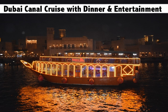 Dubai Canal Rainbow Dhow Cruise with Buffet Dinner for only AED39