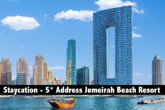 Staycation - 5* Address Beach Resort, Infinity Pool Access - HB