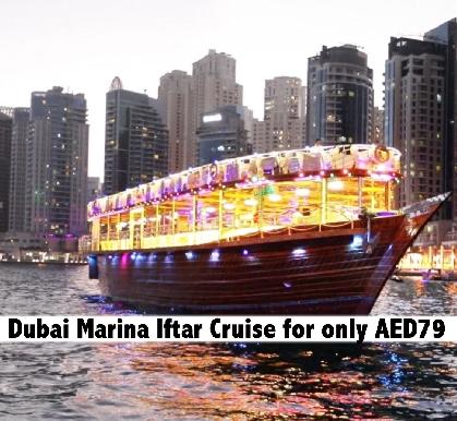 Iftar & Dinner 5 Star Le Fleur's Dubai Marina Cruise for only AED79