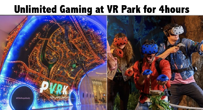 VR Park Dubai Mall - Entry & Unlimited VR Games Access (for 4hrs)