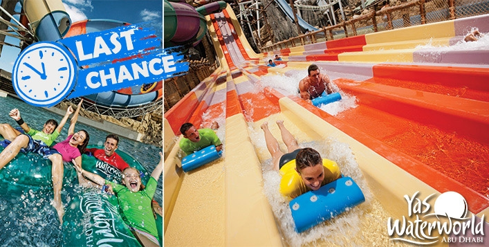 Yas Waterworld Abu Dhabi Tickets with Meal for only AED219