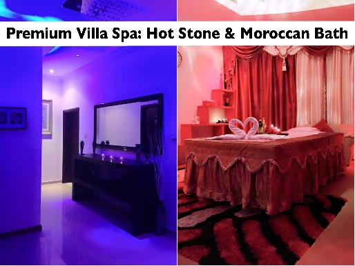 Bluestar Villa Premium Oil Therapy, Moroccan Bath & Hot Stone Therapy AED89