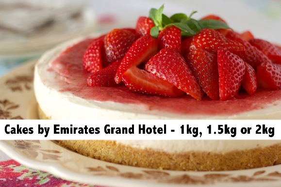 Cakes of your choice by Emirates Grand Hotel - 1kg, 1.5kg or 2kg