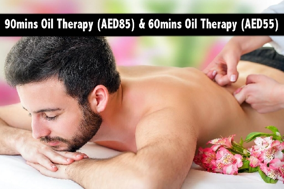 90mins Oil Therapy (AED85) & 60mins Oil Therapy (AED55) - Green Land Spa