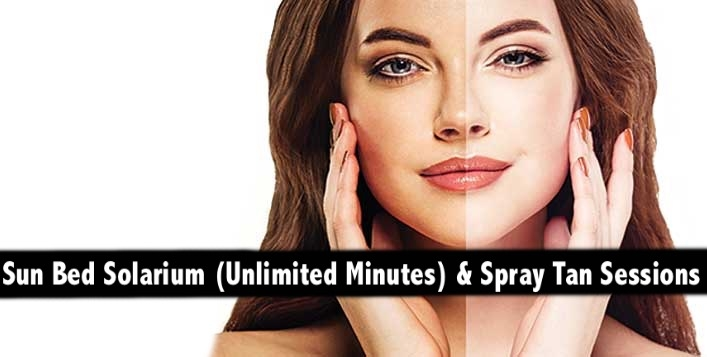 Unlimited Sun Bed Tan (Solarium) or Spray Tan - Get that perfect Bronze Color