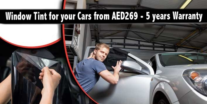 Window Tint for your Cars from AED269 - Prepare your Car for Summers!