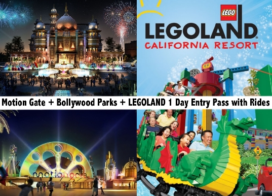 Motion Gate + Bollywood Parks + LEGOLAND 1 Day Entry Pass with Rides
