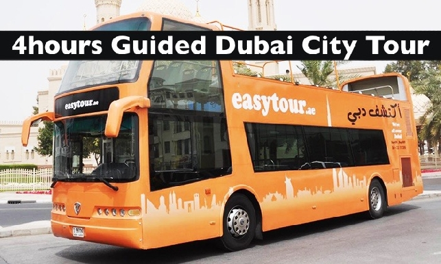 4hrs Guided Dubai Bus City Tour - (A/C or Open Deck) on Easy Bus from AED39