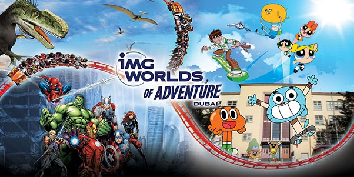 IMG Worlds of Adventure Ticket Unlimited Rides - Valid for Resident & Tourist