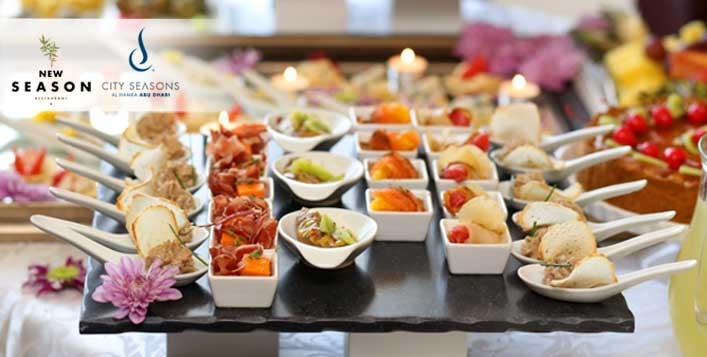 City Seasons Hotel Deira Lunch or Dinner Buffet with Hubbly Bubbly