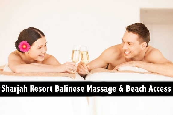 Sharjah Hotel Balinese or Hot Stone Spa Therapy with Beach Access