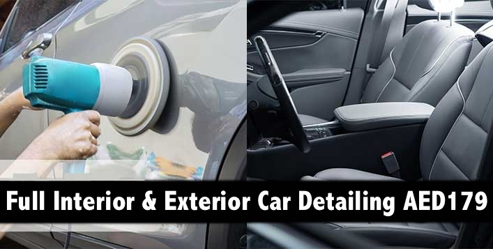 Full Car Detailing (Interior, Exterior) with Meguiars Pdts for AED179 In Deira