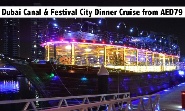 Dubai Water Canal 2hrs Int'l Dinner Buffet Cruise with Live Entertainment
