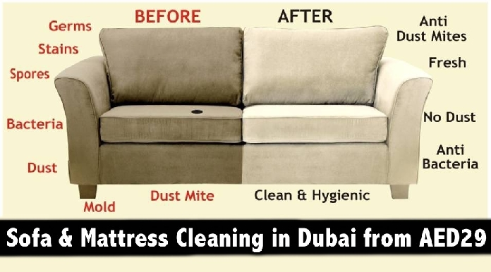 Mattress & Sofa Steam Cleaning Services all over Dubai from only AED29
