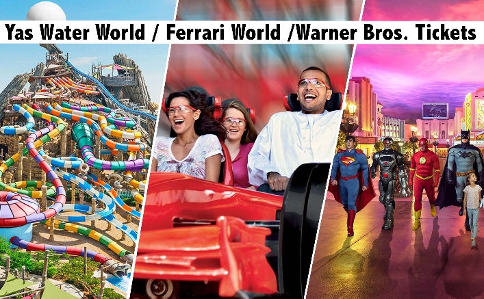 Warner Bros. | Ferrari World | Yas Waterworld with Meal from AED199