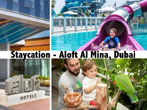 Staycation - Aloft Al Mina with Laguna Waterpark or Green Planet Tickets