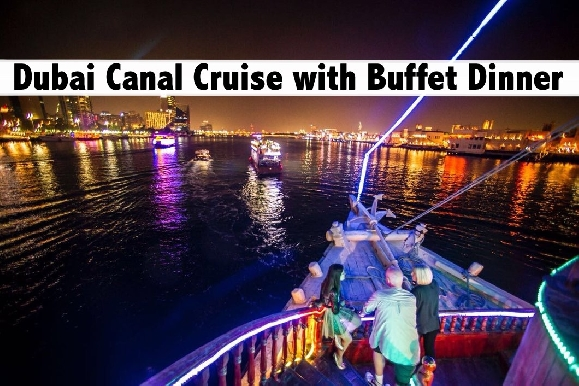 Dubai Canal Dhow Cruise with Buffet Dinner for only AED39