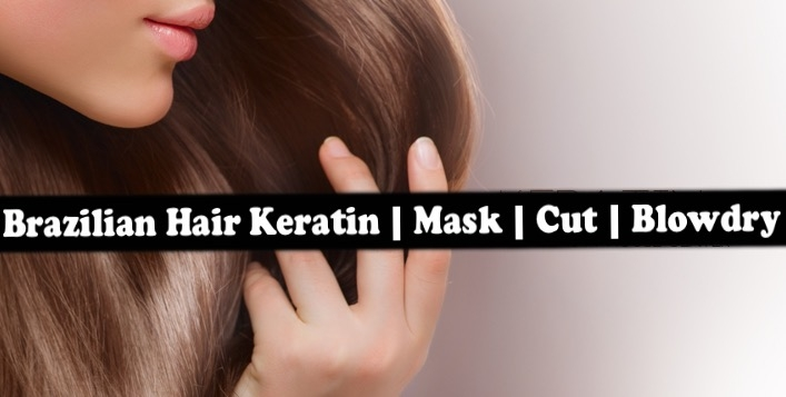 Brazilian Keratin Straightening Treatment + Hair Mask from only AED139