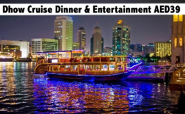 Deira Creek Dhow Cruise Dinner with Entertainment for only AED39