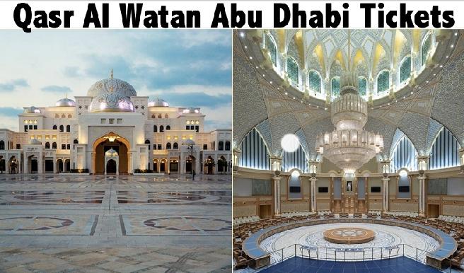 Qasr Al Watan AUH - Palace & Garden Tickets - Child (AED30), Adult (AED49)