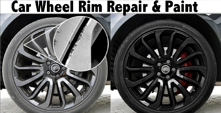 Car Wheel Rim Repair & Paint - 1 Rim AED129, 4 Rims AED379