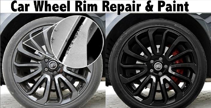 Car Wheel Rim Repair & Paint - 1 Rim AED129, 4 Rims AED379