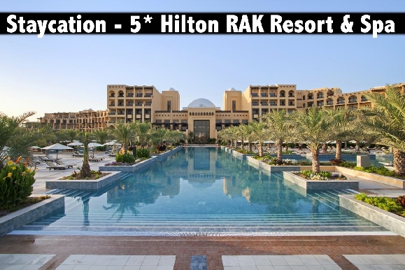 Staycation - 5* Hilton RAK Resort & Spa, Half Board or All Inclusive