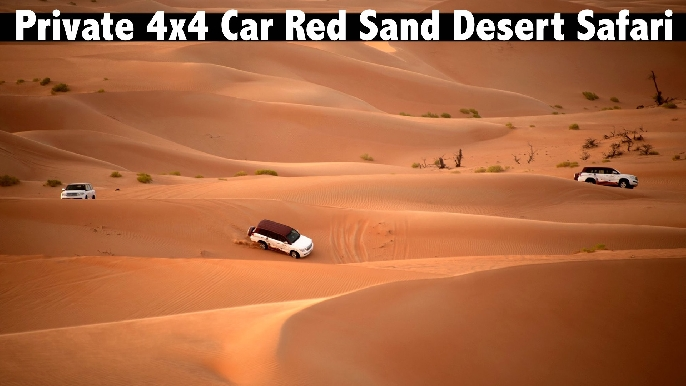 Desert Safari with Dinner in Red Sand Desert for only AED659 - Private 4x4