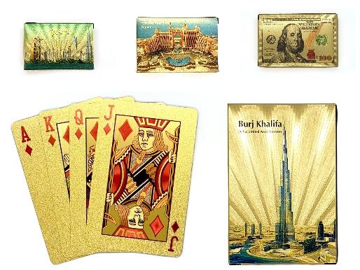 24k Gold Playing Cards or Evil Eye Bracelet or Colored Bling Bracelet for AED19