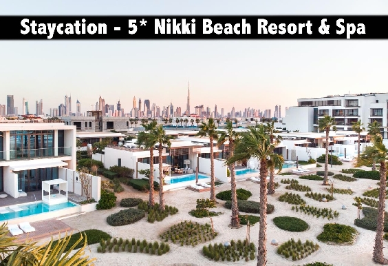 Staycation - 5* Nikki Beach Resort & Spa Dubai with Breakfast