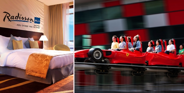 Staycation - 4* Radisson Blu (Yas Island) with Ferrari World Tickets