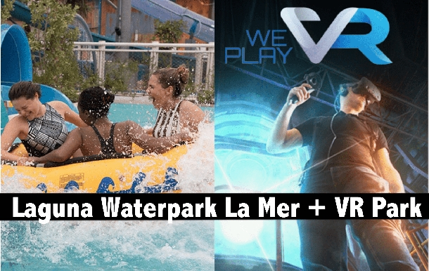 Laguna Waterpark with Meal + VR Park Dubai Mall Combo for only AED135