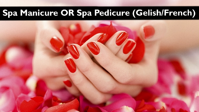 Gelish | French | Classic Manicure or Pedicure at Bodyline from AED19