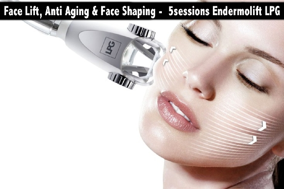 Face Lift, Anti Aging & Face Shaping -  5sessions Endermolift LPG