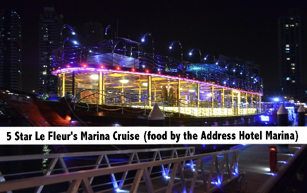 5 Star Le Fleur's Marina Cruise Dinner Buffet (food by the Address Hotel Marina)