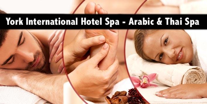 York International Hotel Spa - 60mins Arabic & Thai Oil Relaxation Therapies