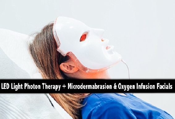 LED Light Photon Therapy + Microdermabrasion & Oxygen Infusion Facials