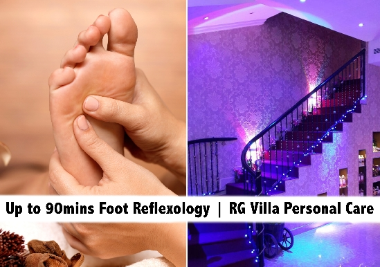 Foot Reflexology Sessions up to 90mins starting from AED59 - RG Villa Spa