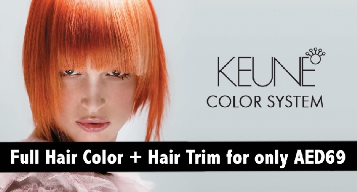 Full Hair Color + Hair Trim for only AED69 - Beautique Salon in Int'l City CBD